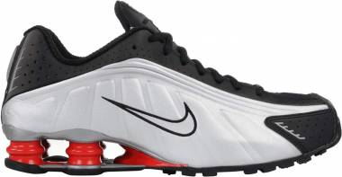Nike Shox R4 - Black, Metallic Silver-max Orange