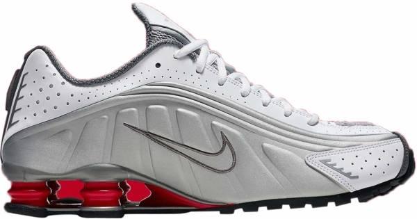Nike Shox R4 - White/Metallic Silver/Comet Red