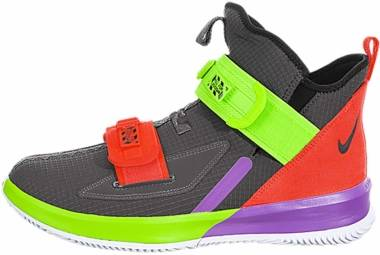 Nike LeBron Soldier 13 - Thunder Grey / Bright Crimson-electric Green (AR4225002)