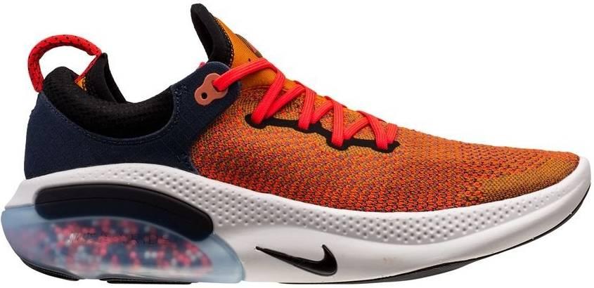 orange nike running shoes