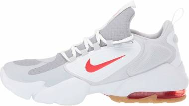 Nike Air Max Alpha Savage - Grey Wolf Grey Habanero Red Pure Platinum White 030 (AT3378030)