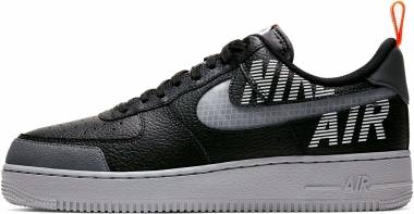 Nike Air Force 1 07 LV8 2 - Black/Wolf Grey-dark Grey-total Orange