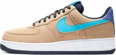 Nike Air Force 1 07 LV8 2 - Khaki/Blue Fury-persian Violet (CD0887201)