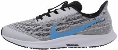 Nike Air Zoom Pegasus 36 FlyEase - White Univ Blue Black Pure Platinum Laser Orange
