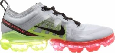 Nike Air VaporMax 2019 - Multicolore Pure Platinum Black Volt Bright Crimson 000 (AR6631007)