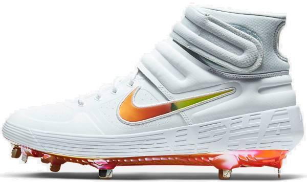 Nike Alpha Huarache Elite 2 Mid - White/Laser Orange-magma Orange (CI2228105)