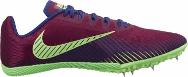 Nike Zoom Rival M 9 - Multicolour Bordeaux Regency Purple Lime Blast 600 (AH1020600)