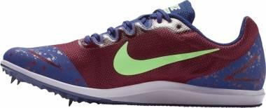 Nike Zoom Rival D 10 - Multicolour (Bordeaux/Lime Blast/Regency Purple 600)