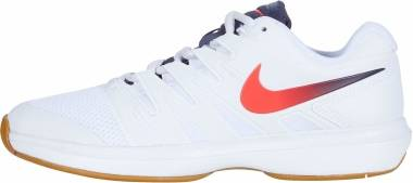 NikeCourt Air Zoom Prestige - Blanco Laser Crimson Gridiron Wheat (AA8020105)
