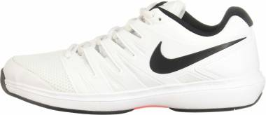 NikeCourt Air Zoom Prestige - Mehrfarbig White Black Bright Crimson 106