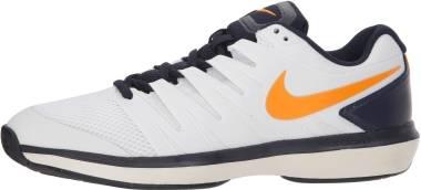 NikeCourt Air Zoom Prestige - White/Orange Peel/Blackened Blue/Phantom