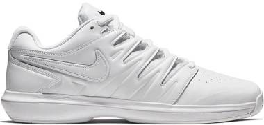 NikeCourt Air Zoom Prestige - Leather - White/White/Black