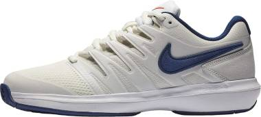 NikeCourt Air Zoom Prestige - Multicolore (Light Bone/Black/Hot Lava/White 4)