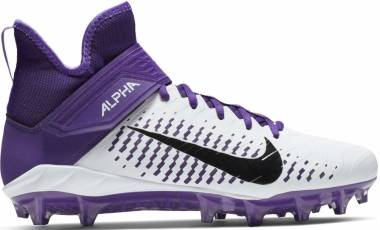 Nike Alpha Menace Pro 2 Mid - White/Black/Court Purple