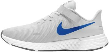 Nike Revolution 5 FlyEase - Photon Dust Particle Grey Black Photo Blue (BQ3211015)