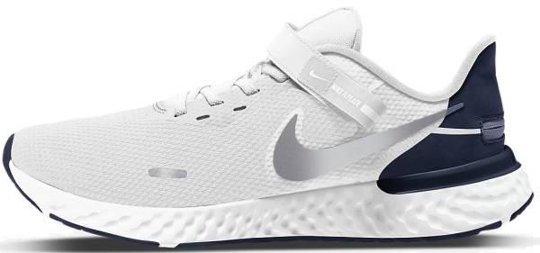 Nike Revolution 5 FlyEase - White/Midnight Navy/Metallic Silver (BQ3211102)