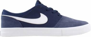 Nike SB Solarsoft Portmore II - Bleu Midnight Navy White Black 410 (880266410)