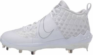 Nike Force Zoom Trout 6 - White/White-pure Platinum (AT3464100)