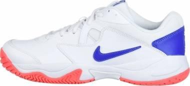 NikeCourt Lite 2 - White/Game Royal-flash Crimson