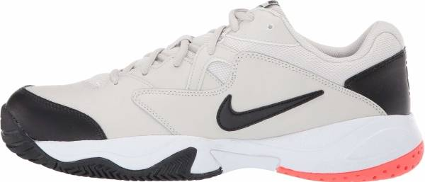 NikeCourt Lite 2 - Light Bone/Black - Hot Lava - White