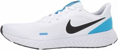Nike Revolution 5 - White/Black-blue Hero