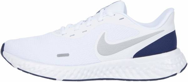 Nike Revolution 5 - White Midnight Navy Metallic Silver (BQ3204102)