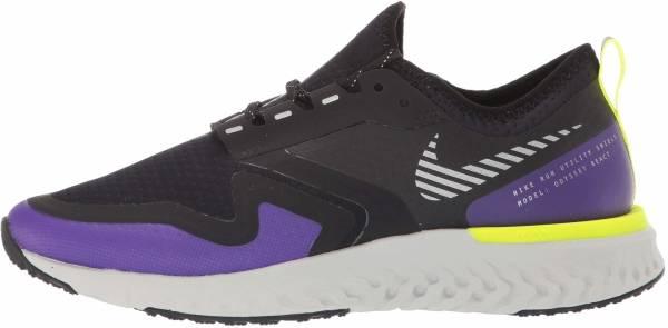 Nike Odyssey React Shield 2 - Black/Metallic Silver-voltage Purple (BQ1672002)