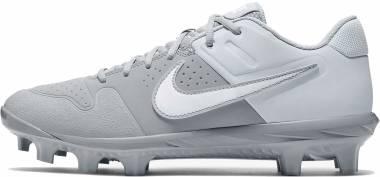 Nike Alpha Huarache Varsity Low MCS  - Wolf Grey/White/Pure Platinum (AO7959004)