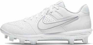 Nike Alpha Huarache Varsity Low MCS  - White Pure Platinum White (AO7959101)