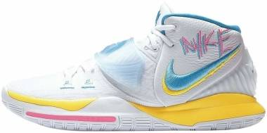 Nike Kyrie 6 - White Opti Yellow Digital Pink Blue Fury (BQ4630101)