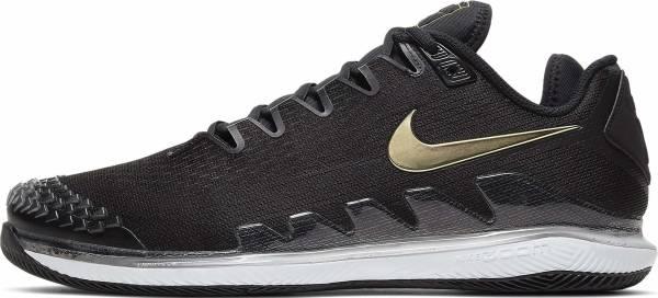 NikeCourt Air Zoom Vapor X Knit - Black Metallic Gold