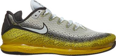 NikeCourt Air Zoom Vapor X Knit - Black Speed Yellow White (AR0496004)