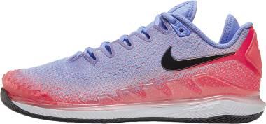 NikeCourt Air Zoom Vapor X Knit - Royal Pulse Black Flash Crimson
