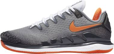 NikeCourt Air Zoom Vapor X Knit - Metallic Dark Grey Smoke Grey Particle Grey Total Orange (AR0496005)