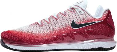 NikeCourt Air Zoom Vapor X Knit - Laser Crimson/Gym Red/White/Gridiron (AR0496600)