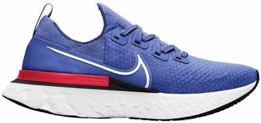 Nike React Infinity Run Flyknit - Racer Blue / White / Bright Crimson / Black (CD4371400)