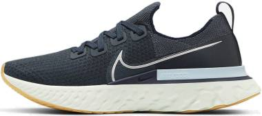 Nike React Infinity Run Flyknit - Blue Fox/Metallic Silver-college Navy (CD4371401)