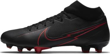Nike Mercurial Superfly 7 Academy MG - Black Black Dark Smoke Grey Chile Red (AT7946060)