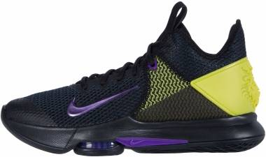 Nike LeBron Witness 4 - Black Voltage Purple Opti Yellow White