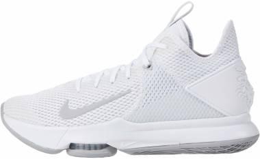 Nike LeBron Witness 4 - White Wolf Grey Pre Platinum 100 (CV4004100)