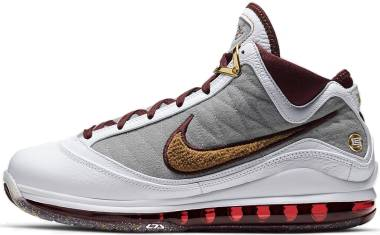 Nike LeBron 7 - White Bronze Team Red Wolf Grey (CZ8915100)