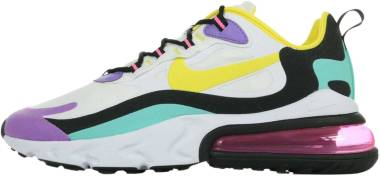Nike Air Max 270 React - White Dynamic Yellow Black Bright Violet (AO4971101)