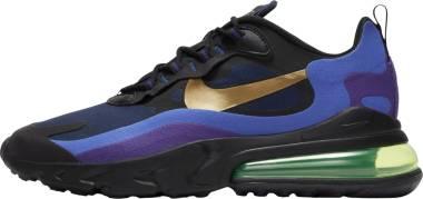 Nike Air Max 270 React - Black/University Gold-deep Royal Blue (AO4971005)