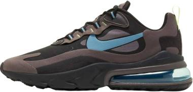 Nike Air Max 270 React - Negro Cerulean Thunder Grey Barely Volt (CI3866001)