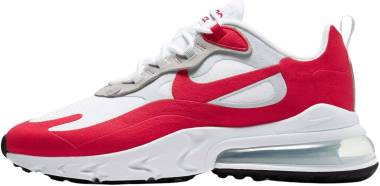 Nike Air Max 270 React - White University Red 100 (CW2625100)