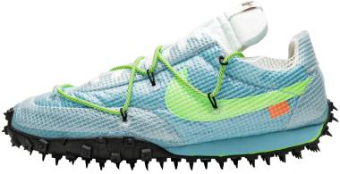 Nike Waffle Racer Off-White - Vivid Sky/Black-electric Green (CD8180400)