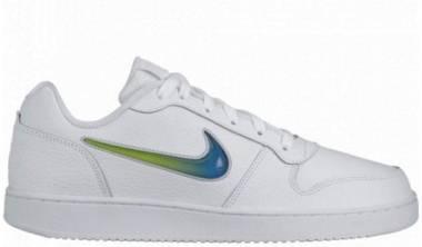 Nike Ebernon Low Premium - White/Game Royal-lime Blast (AQ1774100)