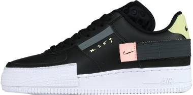 Nike Air Force 1 Type - Black Black Anthracite Zinnia Pink Tint 001 (CI0054001)