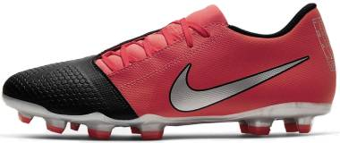 Nike PhantomVNM Club Firm Ground - Laser Crimson Black Metallic Silver (AO0577606)