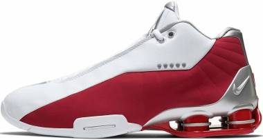 Nike Shox BB4 - White/Metallic Silver-varsity Red (AT7843101)
